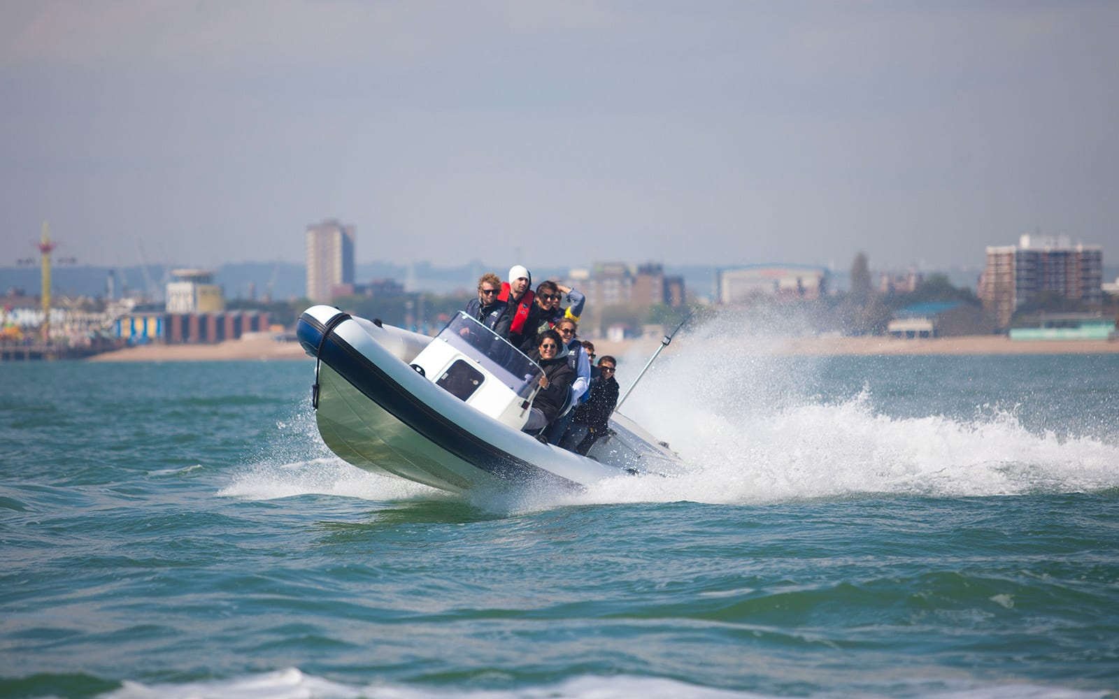 Travel in style by speed boat to your party celebration destination - Solent Forts